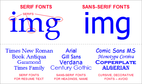 resumé tips 1 best fonts and text size for your resumé