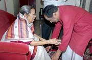 M. Balamuralikrishna and Gangubai Hangal, celebrated Indian Classical vocalists