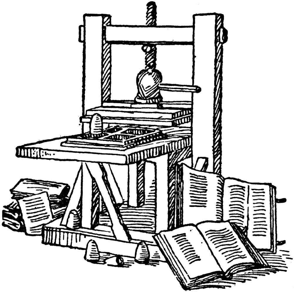 Gutenberg's Invention of Mechanized Printing: Blend of coin punch and mechanized wine press