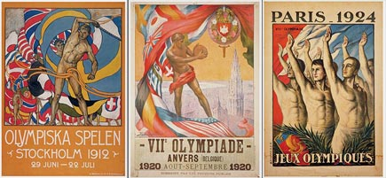 homoerotic olympics posters, 1912-1924