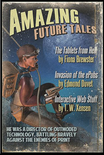 pulp-style cover showing warrior for print