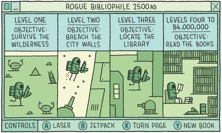Rogue Bibliophile: 2500 AD, by Tom Gauld