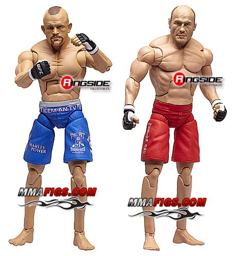 The Iceman VS The Natural from UFC 57, captured by Jakks Pacific!