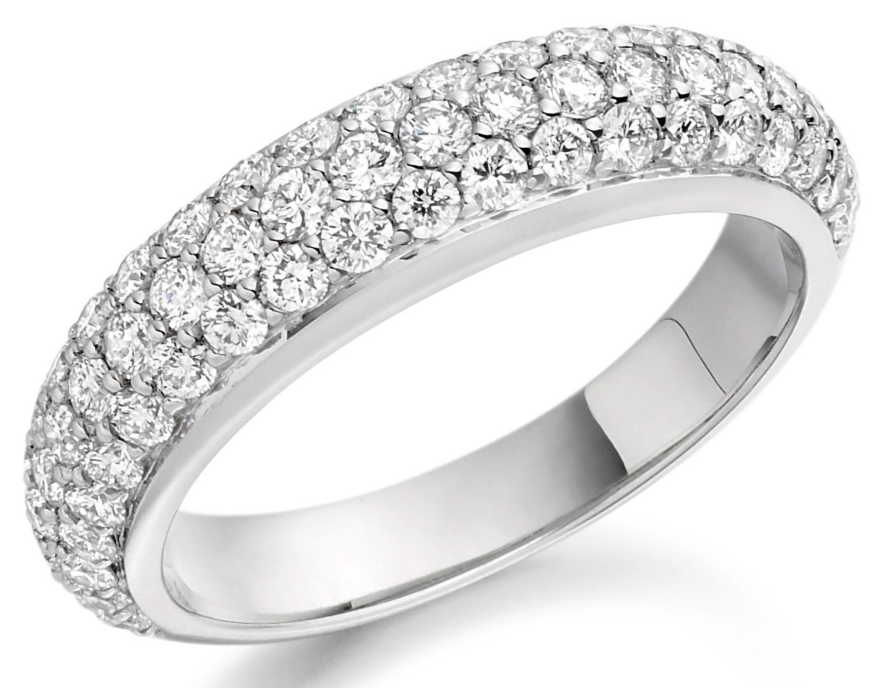 affordable engagement rings how find them pave diamond wedding band Pave Diamond Ring