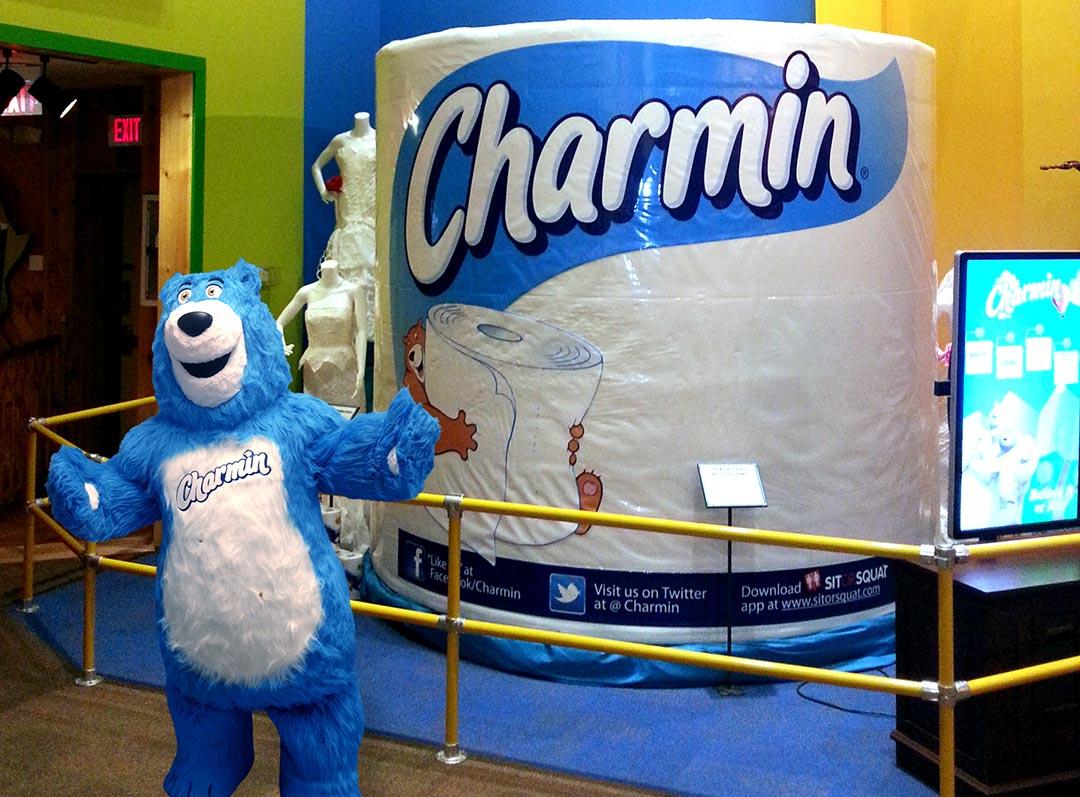 Charmin Bear vs Giant Roll