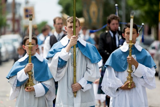 SUNDAY, JUNE 7, 2015 - This is the Holy Mass and procession Sunday to celebrate the Feast of Corpus Christi at St. Francis de Sales Oratory which is under the auspices of the order of the Institute of Christ the King Sovereign Priest. ©Photo by Jerry Naunheim Jr.