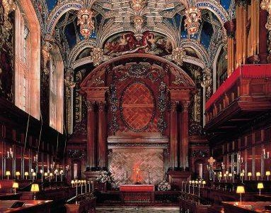 The Chapel Royal at Hampton Court Palace which has been in continuous use for over 450 years. The magnificant vaulted ceiling was installed by Henry VIII in 1535-6.  Credit: Historic Royal Palaces/newsteam.co.uk