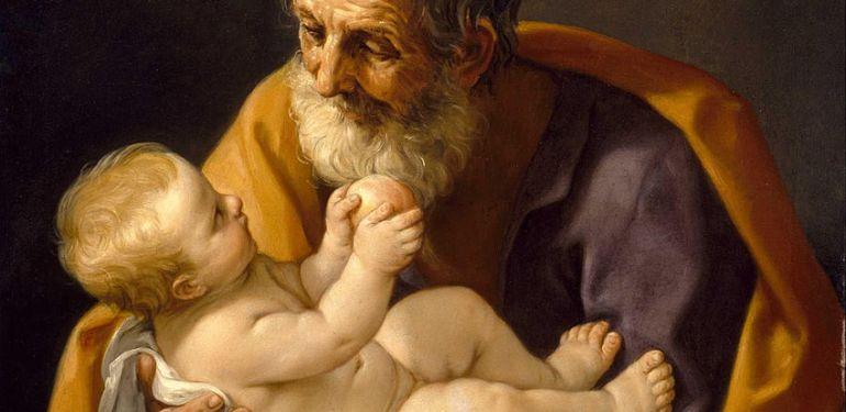 Guido Reni. Saint Joseph et l'Enfant Jésus (1640)-1