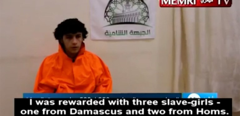 ISIS fighter reveals he was given three SEX SLAVES as thank you gift