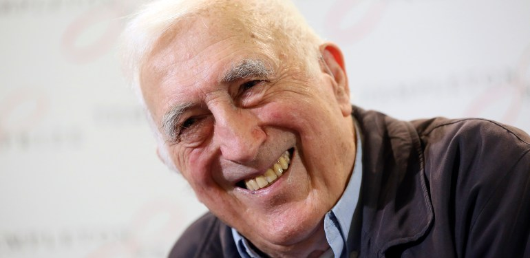 Winner of the 2015 Templeton Prize Jean Vanier smiles during a press conference in London, March 11, 2015.  Pic:Paul Hackett