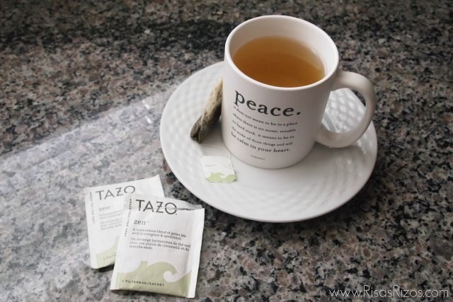 drinking a cup of green tea a day helps with overall healthy of your body and hair