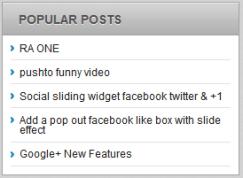 popular post widget for wordpress