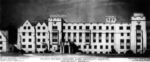 Photo of Duke University's hospital courtesy of UPenn