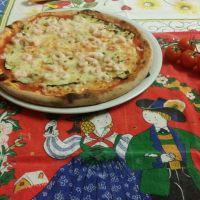 Pizza con Zucchine e Gamberetti