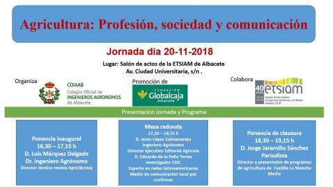 """Jornada sobre """"Agricultura: profesión, sociedad y comunicación"""""""