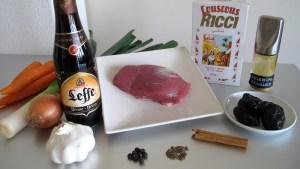 Zutaten für ein belgisches Couscous-Gericht