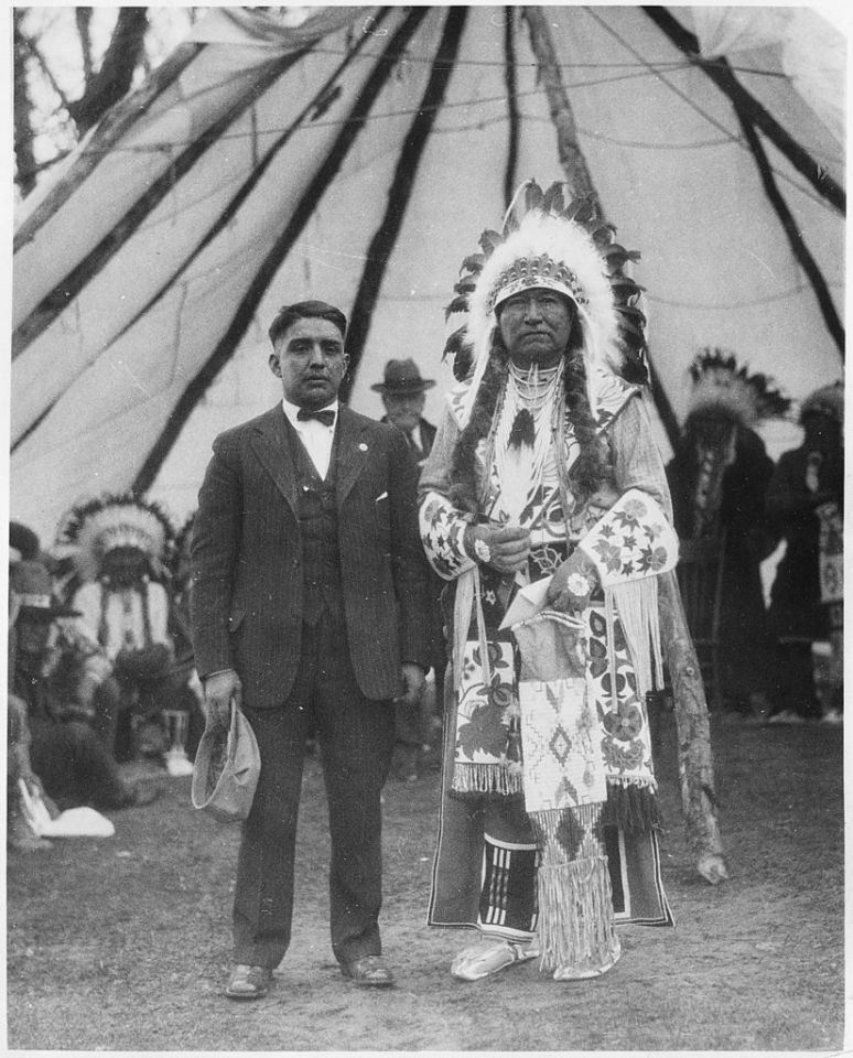 Chief Tendoi at Fort Hall Reservation (1899)
