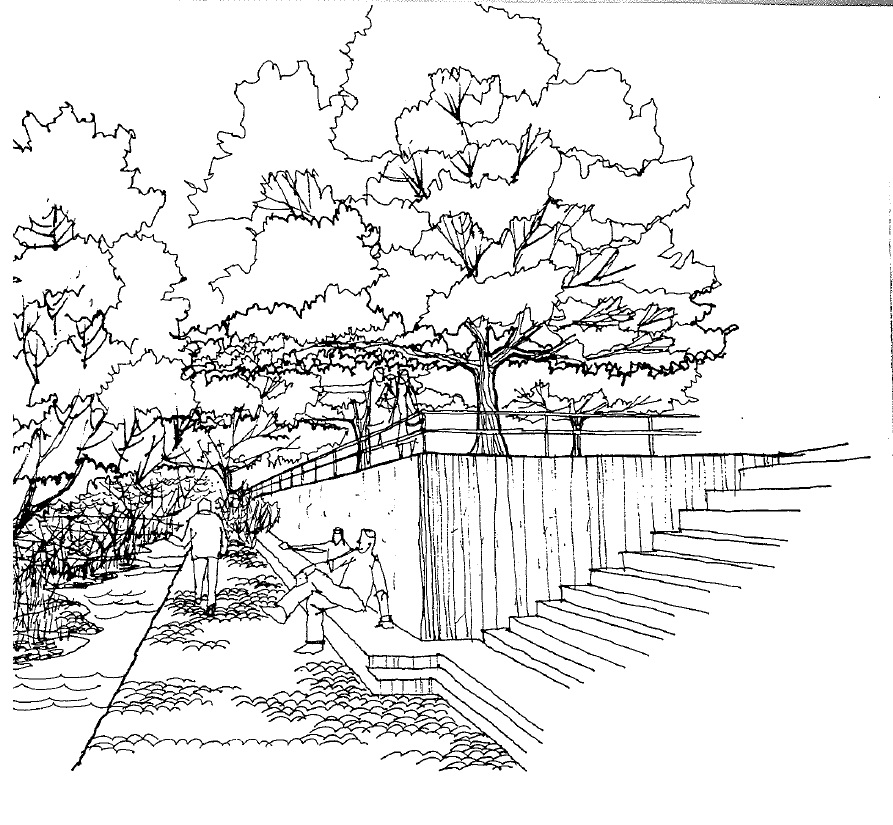 McCarter envisioned a transforming the riverbank into a recreation venue, today's Greenbelt