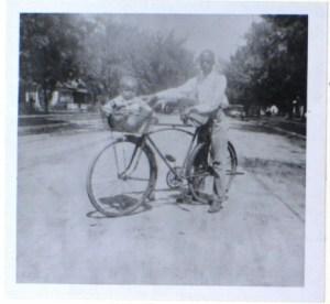 Terrell family children take a bike ride in River Street (n.d.)