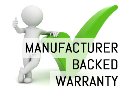 Manufacturer Backed Warranty