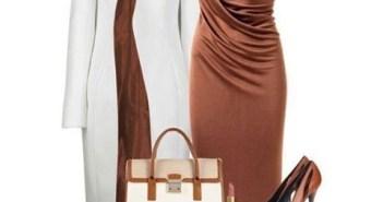 موضة اللون البني في تنسيق ملابس 2014