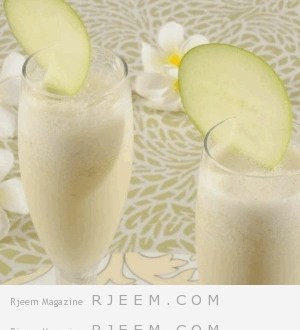 عصير التفاح بالحليب