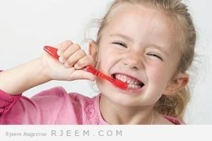 كيف اقنع طفلي بتفريش اسنانه