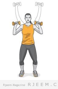 تمارين لتقوية عضلات الظهر والكتف للنساء