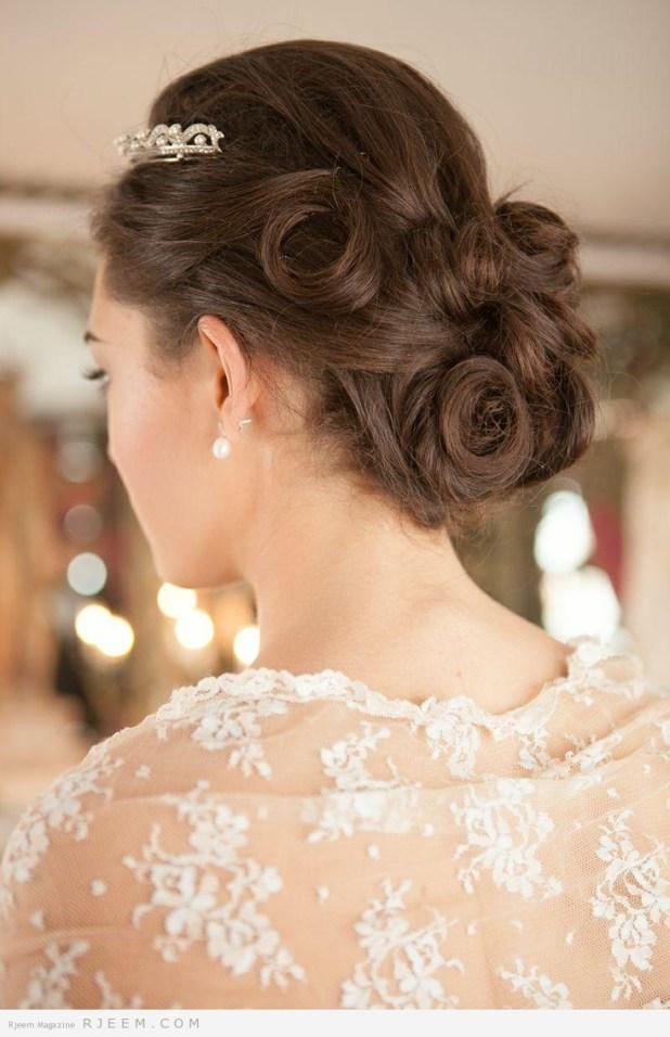 خاااص للعرائس احلى  وارقى  تسريحات شعر  العروس 2014