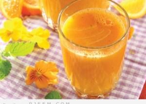 عصير التفاح والليمون المنعش