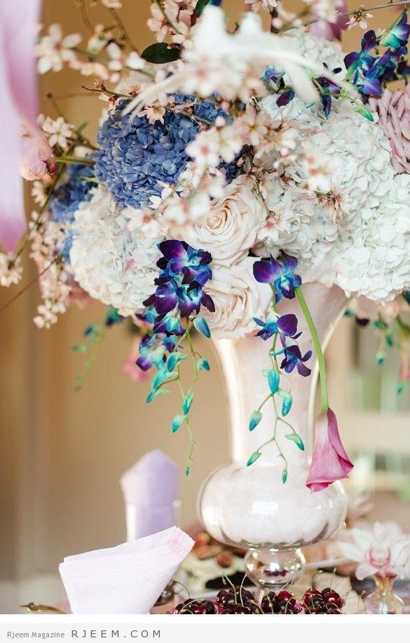 ماسكات زهور لعروس 2015