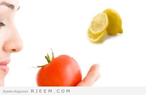 قناع الطماطم و الليمون و ماء الورد