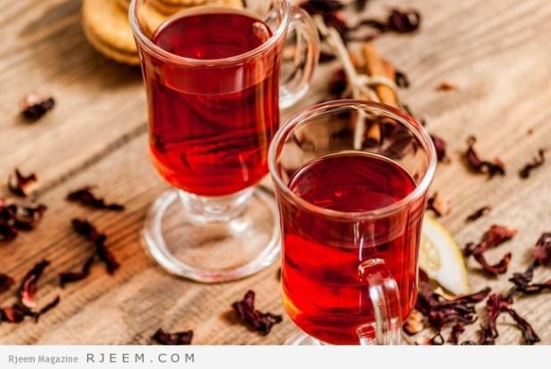 فوائد شاي الكركدية