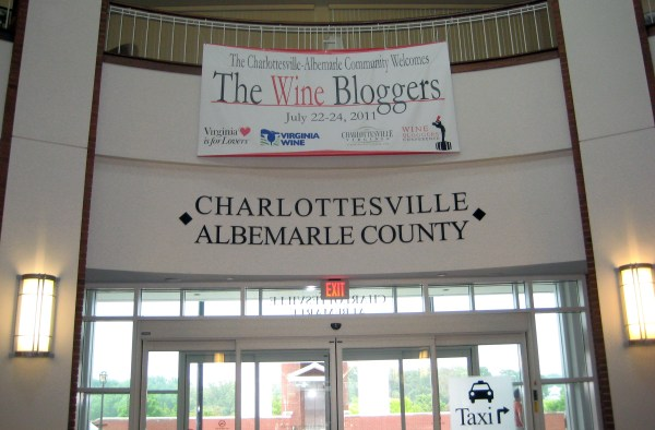 Banner at Charlottesville Airport