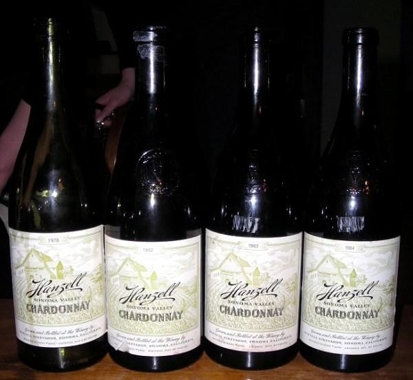 mature Hanzell Chardonnays