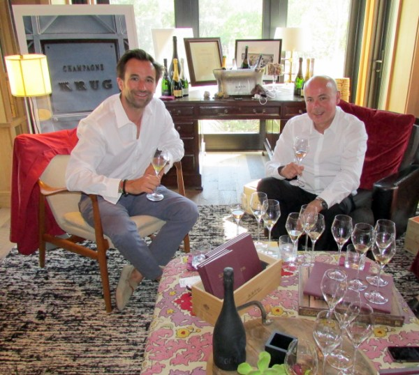 Krug U.S. Business Director Carl Heline left with Eric Lebel