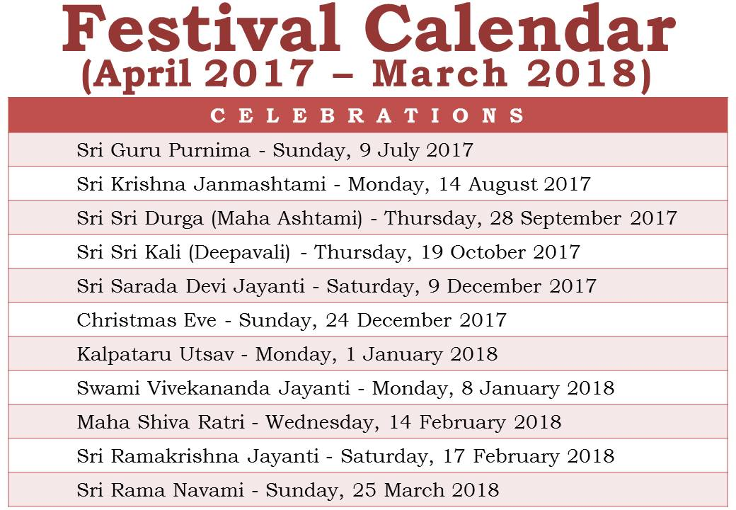 2018 Calendar Festival – Merry Christmas And Happy New Year 2018