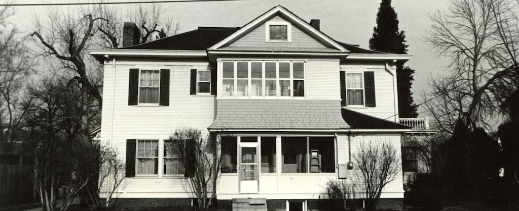Black and white photo of the Idaho RMH before it was RMH