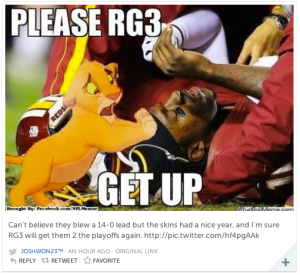 RG3 Handicapped