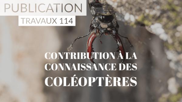 [PUBLICATION] Travaux n°114 Contribution à la connaissance des Coléoptères par Bertrand Cotte