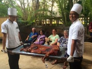 Luau Pig on Display