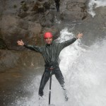 Rappelling over waterfalls in Baños Ecuador