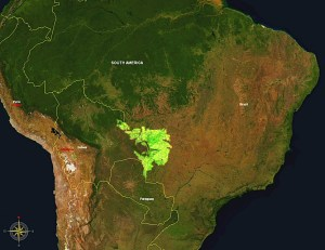 Pantanal wetlands wikipedia map.