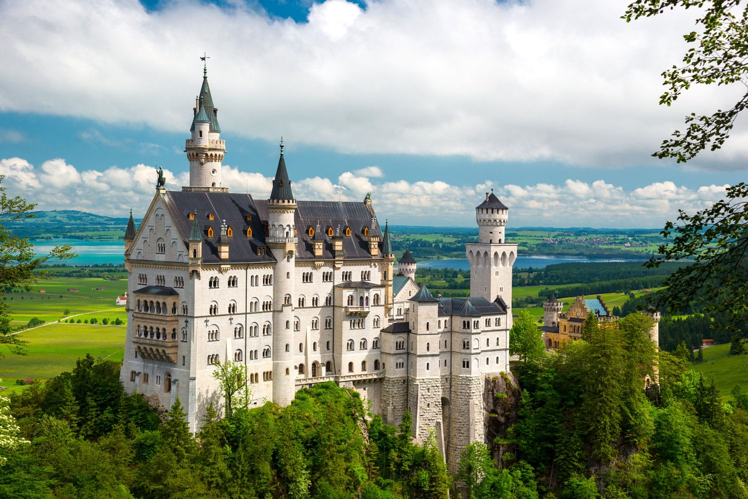 16 Most Beautiful Castles in Germany   Road Affair Neuschwanstein Castle on the top of the mountain in Bavaria  Germany