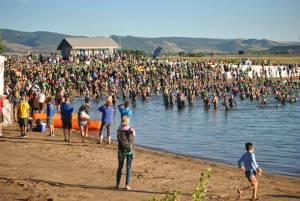 IM Boulder 2013 - Swim Start