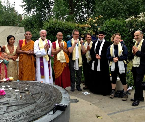 A ceremony at the Tibetan Peace Gardens in London, UK to send our pilgrims off!