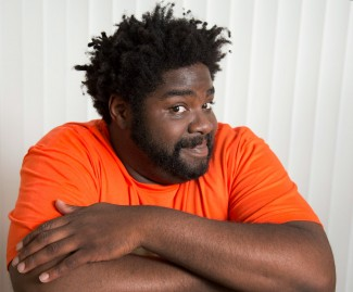 """GLENDALE, CA. JUN 02, 2014. Comedian Ron Funches at his home in Glendale on Jun 02, 2014. Stand-up comedian Ron Funches plays a lead on the new NBC sitcom """"Undateable.""""(Lawrence K. Ho/Los Angeles Times)"""