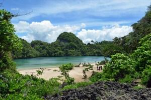 Sempu Island lagoon, Java, Indonesia