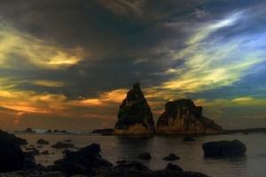 Sunset over Tanjung Layar, Ujung Kulon National Park