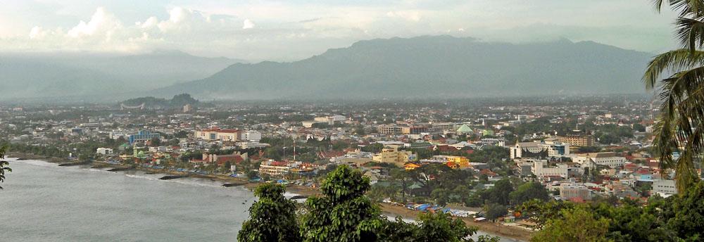 Padang city as seen from Mt Padang